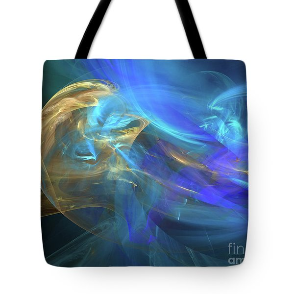 Tote Bag featuring the digital art Waves Of Grace by Margie Chapman