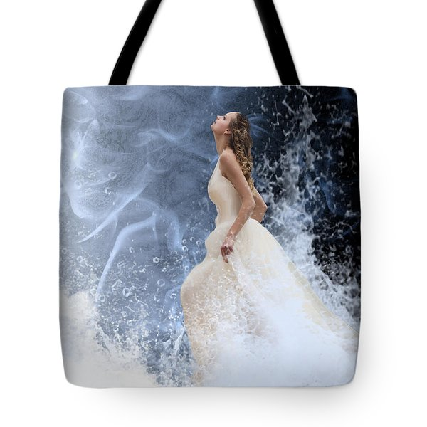 Waves Of His Glory Tote Bag