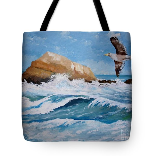 Waves Of The Sea Tote Bag