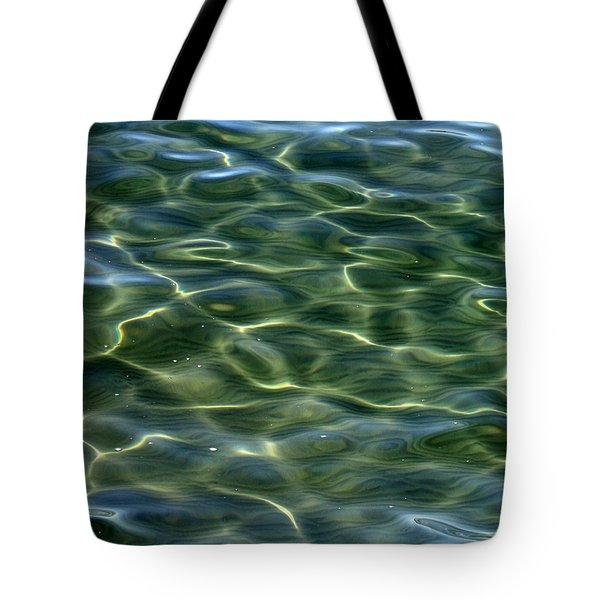 Waves On Lake Tahoe Tote Bag