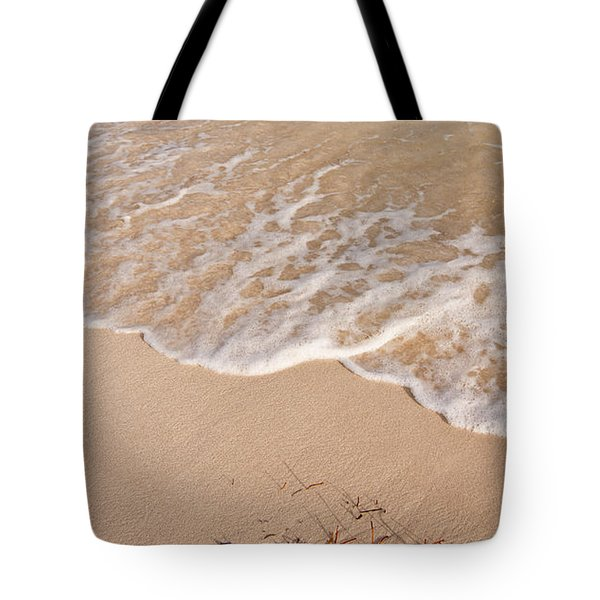 Waves On The Beach Tote Bag by Adam Romanowicz