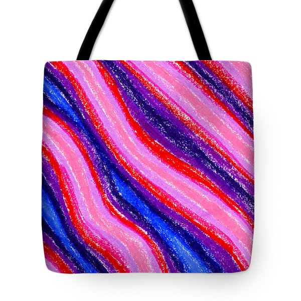 Wavy Oil Pastel Tote Bag by Hakon Soreide