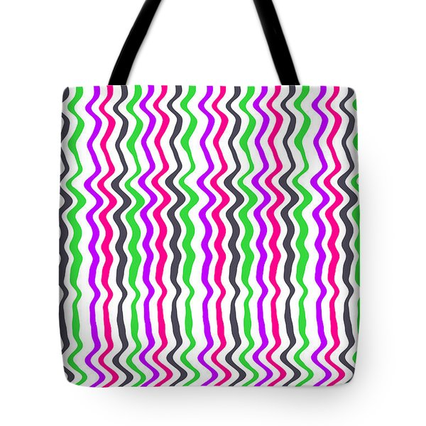 Wavy Stripe Tote Bag by Louisa Hereford