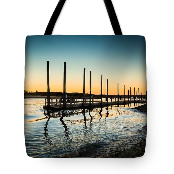 Wavy Sunset Kings Park New York Tote Bag