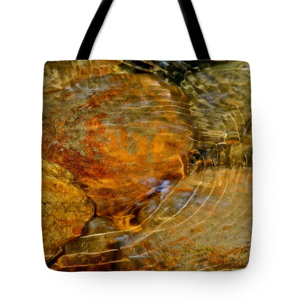 Wavy Water On Colorful Rocks Tote Bag by Kirsten Giving