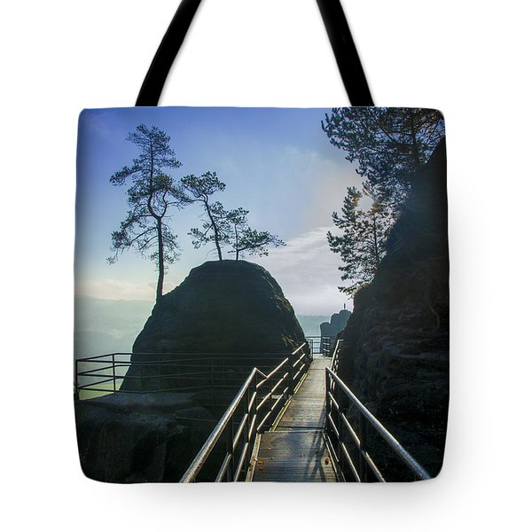 Way Into The Light On Neurathen Castle Tote Bag