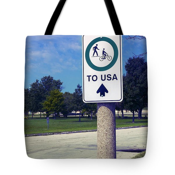 Way To The Usa Tote Bag