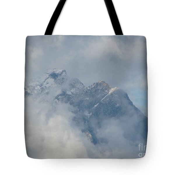Tote Bag featuring the photograph Way Up Here by Greg Patzer