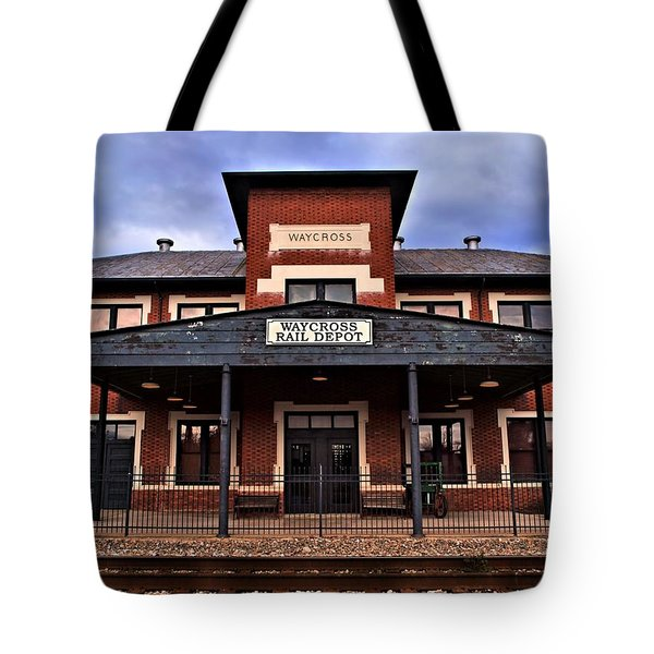 Tote Bag featuring the photograph Waycross Depot by Laura Ragland