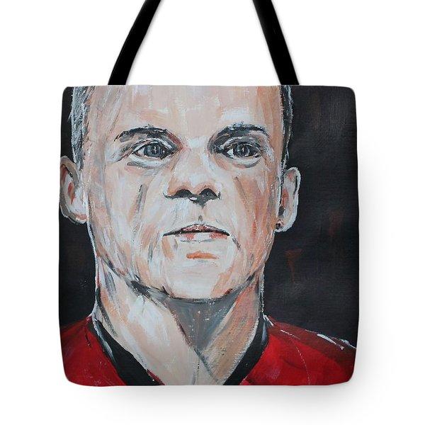 Wayne Rooney Tote Bag by John Halliday