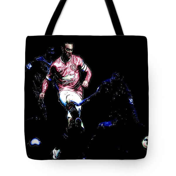 Wayne Rooney Working Magic Tote Bag by Brian Reaves