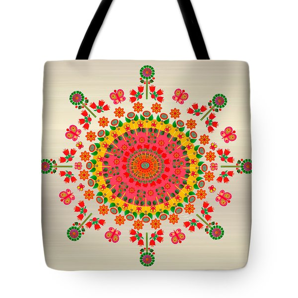Wayuu Art Happiness Tote Bag by Gabriela Delgado