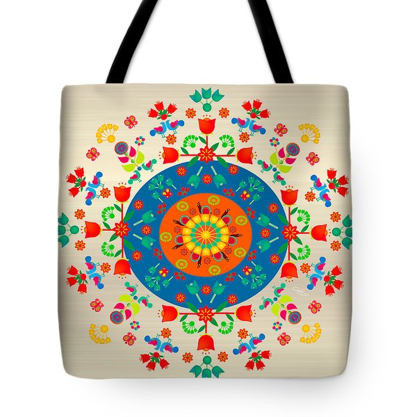 Wayuu Art Happy Garden Tote Bag by Gabriela Delgado