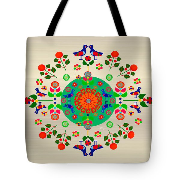 Wayuu Art Joyful Birds Tote Bag by Gabriela Delgado