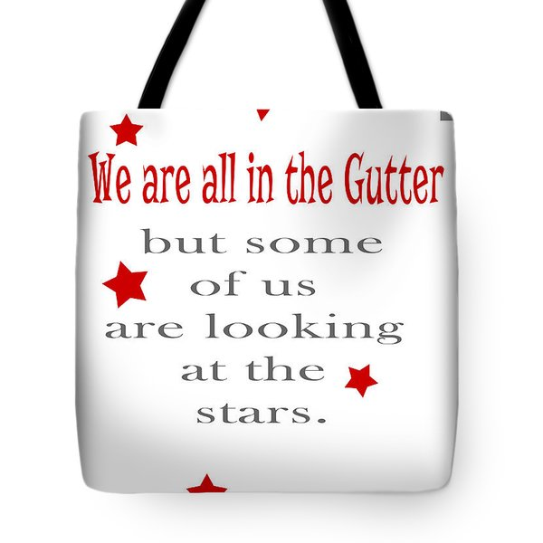 Tote Bag featuring the painting We Are In The Gutter by Nik Helbig