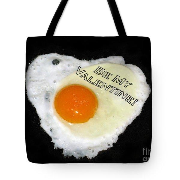 We Are Like Egg And Pepper. Be My Valentine Tote Bag by Ausra Huntington nee Paulauskaite