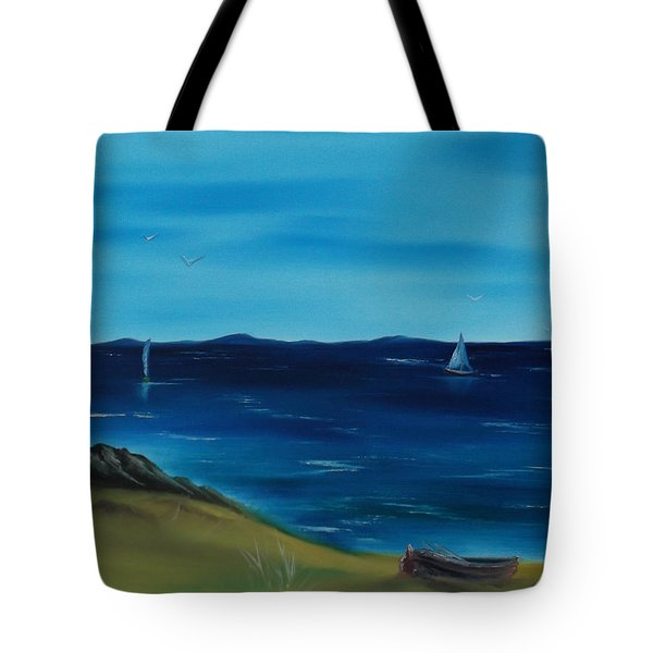 We Are Sailing.. Tote Bag by Cynthia Adams