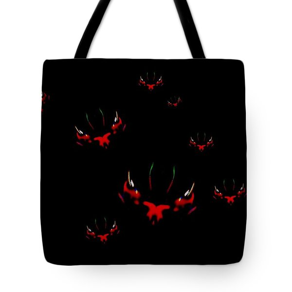 Tote Bag featuring the mixed media We Are Watching You by Mike Breau