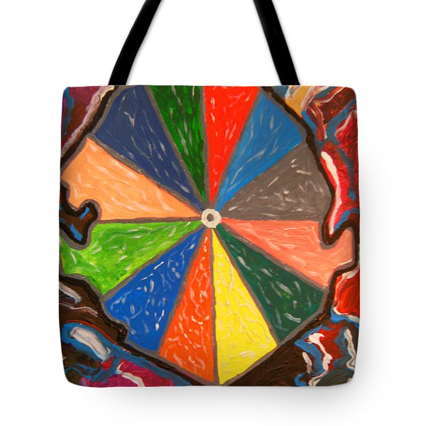 Tote Bag featuring the painting We Ate The Sands - Sierra Leone by Mudiama Kammoh