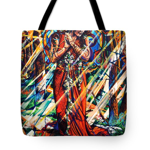 Tote Bag featuring the painting We Came Along This Road by Greg Skrtic