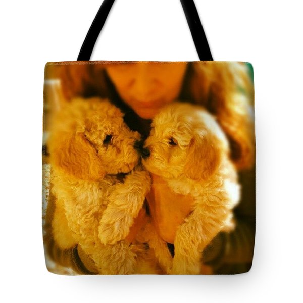 Two Adorable Puppies Tote Bag