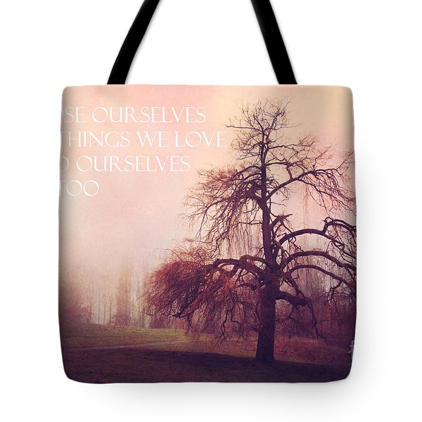 Tote Bag featuring the photograph We Loose Ourselves by Sylvia Cook
