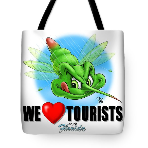 We Love Tourists Mosquito Tote Bag