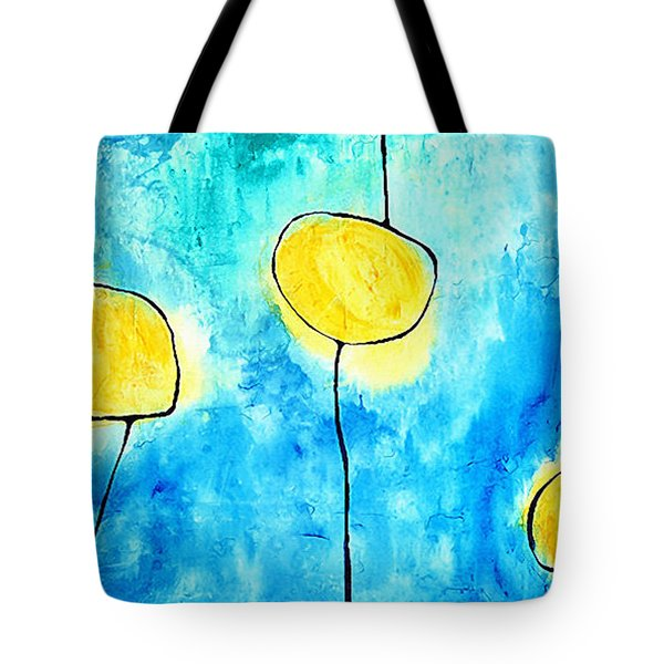 We Make A Family - Abstract Art By Sharon Cummings Tote Bag by Sharon Cummings