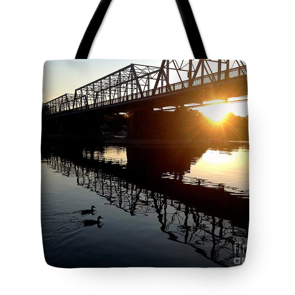 We Move Into The Light - 3 Tote Bag