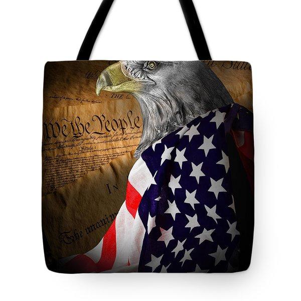 We The People Tote Bag by Tom Mc Nemar
