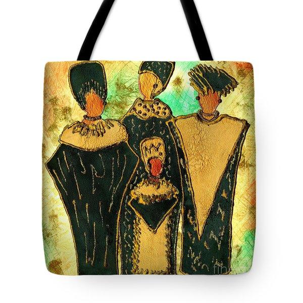 We Women 4 - Suede Version Tote Bag by Angela L Walker