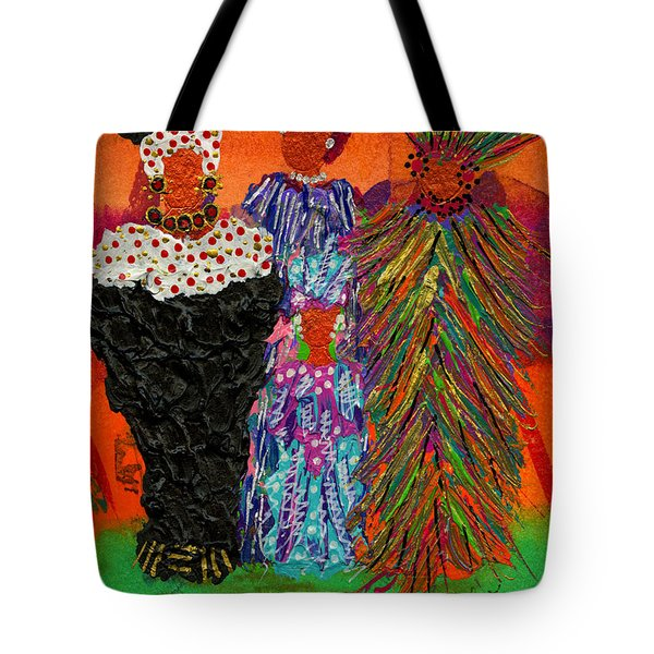 Tote Bag featuring the painting We Women Folk by Angela L Walker