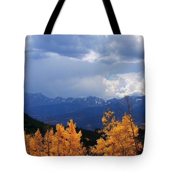 Weather Window Tote Bag by Jeremy Rhoades
