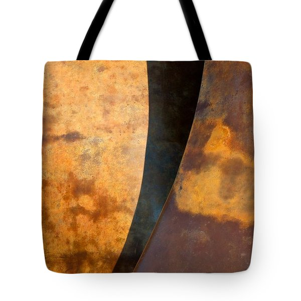 Weathered Bronze Abstract Tote Bag