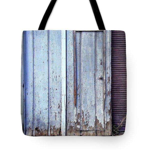 Weathered Door Tote Bag