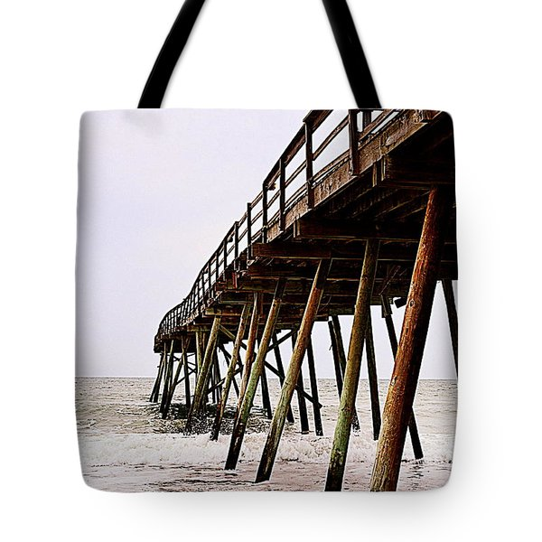Weathered Oceanic Pier  Tote Bag