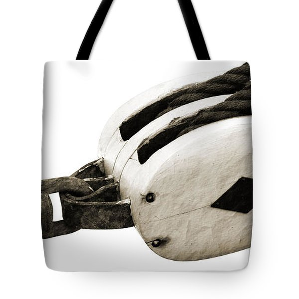 Weathered Pulley Tote Bag by Holly Blunkall