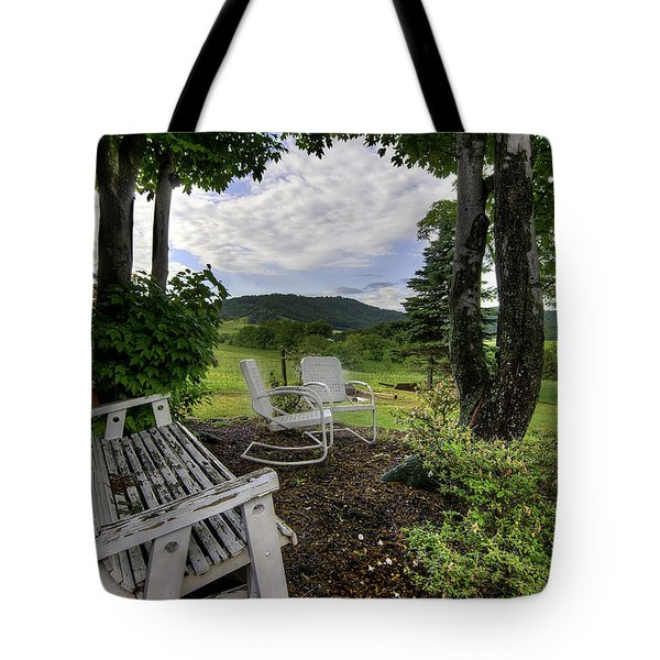 Tote Bag featuring the photograph Weathered Rest by Tim Stanley