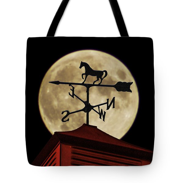 Weathervane Before The Moon Tote Bag