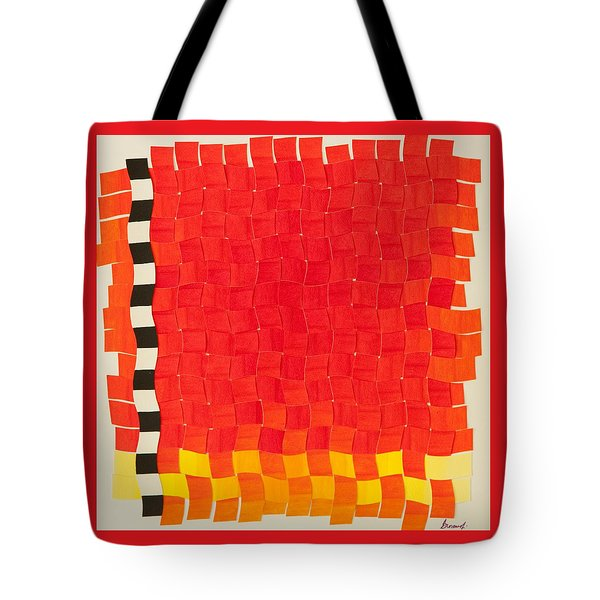 Weave #2 Sunset Weave Tote Bag by Thomas Gronowski