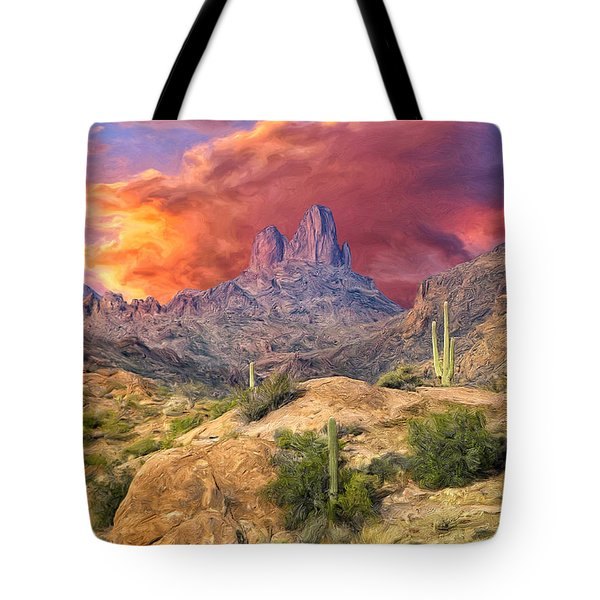 Weavers Needle Tote Bag