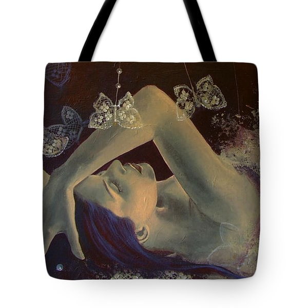 Weaving Lace Wings... Tote Bag by Dorina  Costras