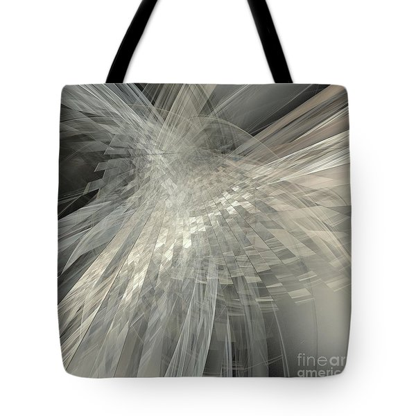 Weaving White And Gray Tote Bag by Elizabeth McTaggart