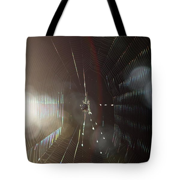 Web Of Flares Tote Bag