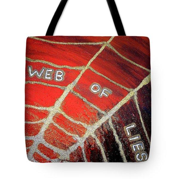 Web Of Lies Tote Bag
