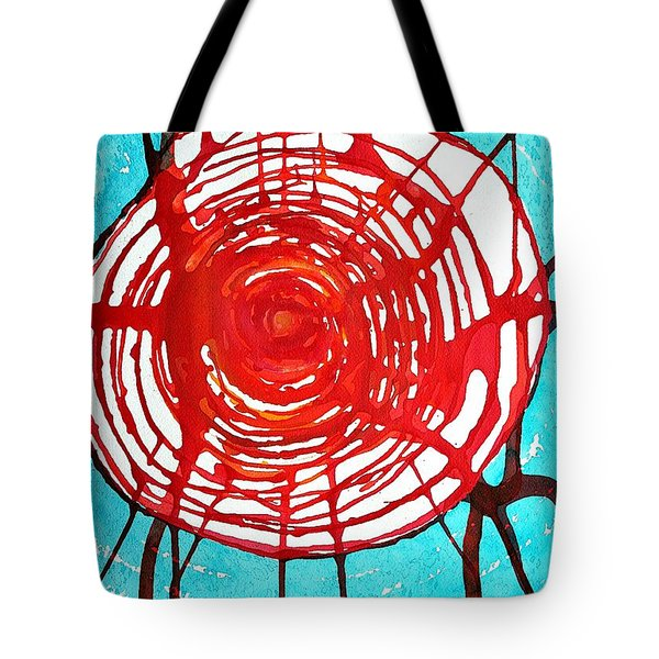 Web Of Life Original Painting Tote Bag by Sol Luckman