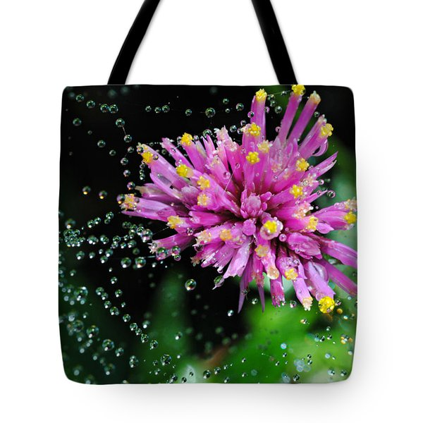 Webbed Water Droplets Tote Bag by Kelly Nowak