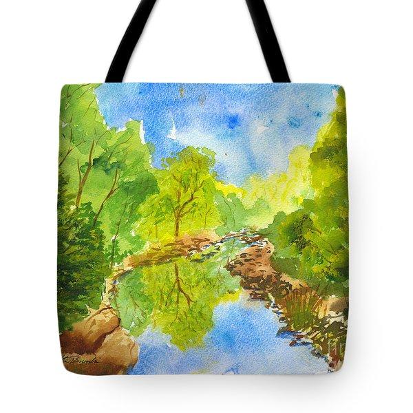 Weber River Reflection Tote Bag