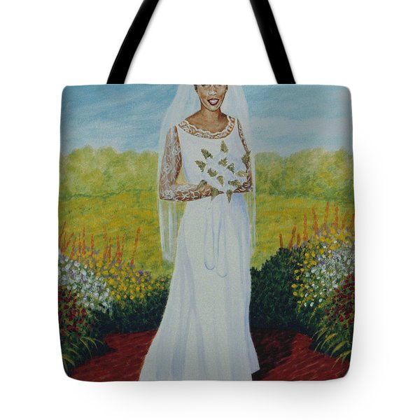 Wedding Day Tote Bag by Stacy C Bottoms