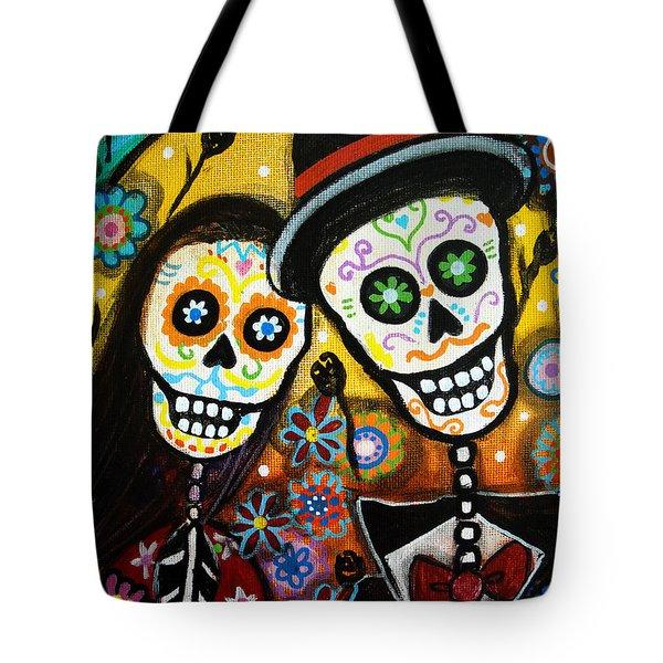 Wedding Dia De Los Muertos Tote Bag